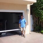 Motorized Power Screen For Garage Door