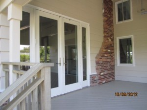 Double Set of Front Screen Doors in Topanga