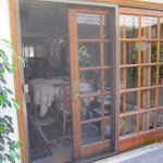 Closed Sliding Patio Screen Door in Sherman Oaks