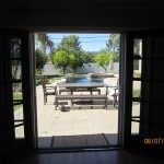 Interior View Double Set of Retractable Screen Doors Sherman Oaks