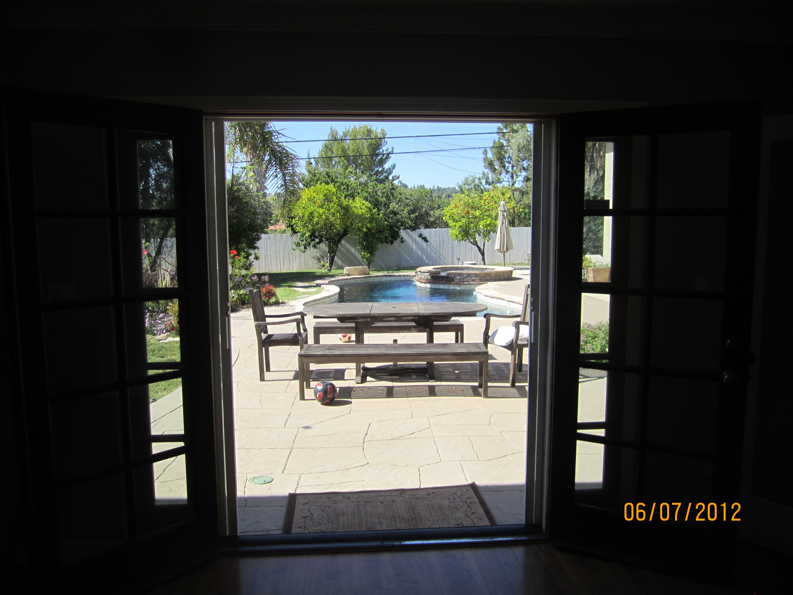 Interior view double set of retractable screen doors for Interior retractable screen door