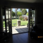 Interior View Retracted Double Set of Retractable Screen Doors in Sherman Oaks