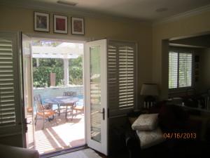 Double Set French Doors of Retractable Screen Doors in Calabasas