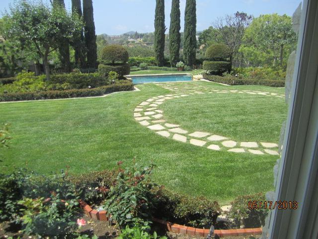 Backyard View thru Charcoal Fiberglass TruScene Mesh
