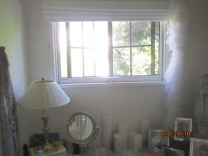 Beverly Hills Retractable Screen Windows in Powder Room