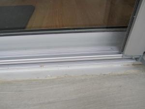 Clear Anodized Retractable Screen Door for a patio sliding screen door