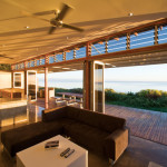 Sunset view Centor Arquitectural Screens for Bi-folding Doors