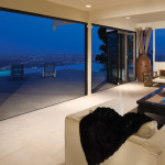 Night view Centor Arquitectural Screens for Bi-folding Doors in Living Room