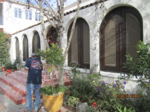 Screen arched panel installation in Studio City