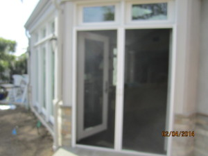 Interior View of Double Set of Retractable Screen Doors in Encino