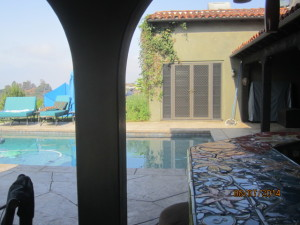 After installation of custom made heavy duty security screen doors double french doors in Topanga