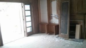 Custom made swinging wood screen doors