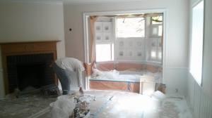 Interior aluminum window screens installed in Bel Air Home