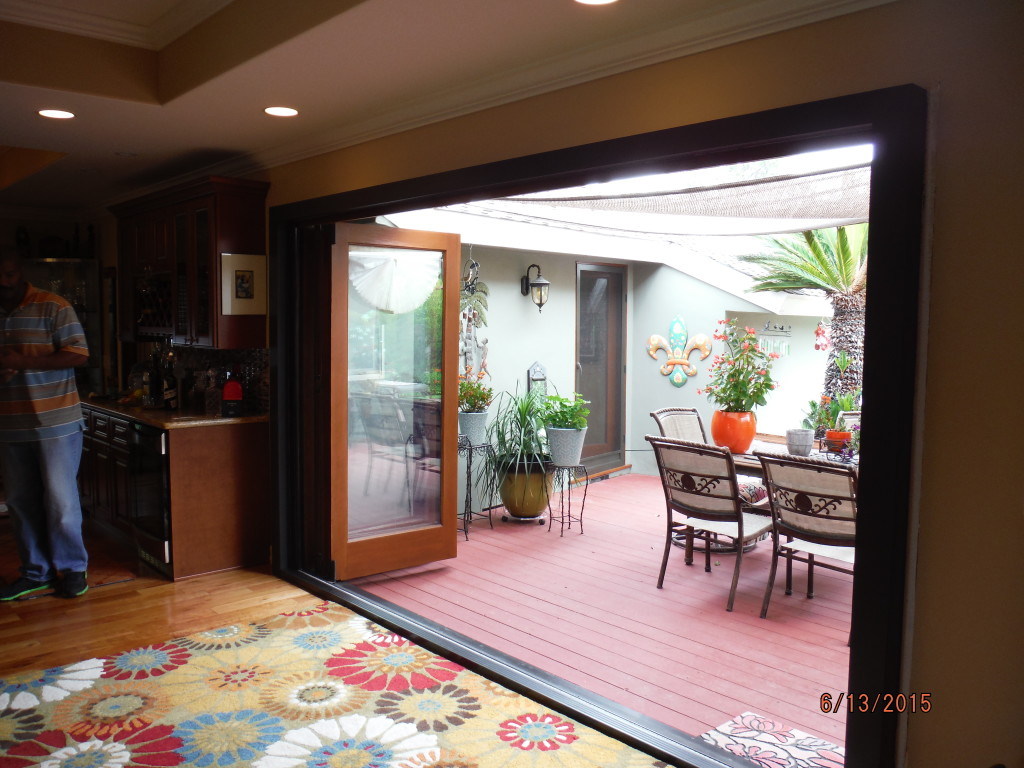 After view of Centor Arquitectural Screens for Bi-folding doors installed in West Hills