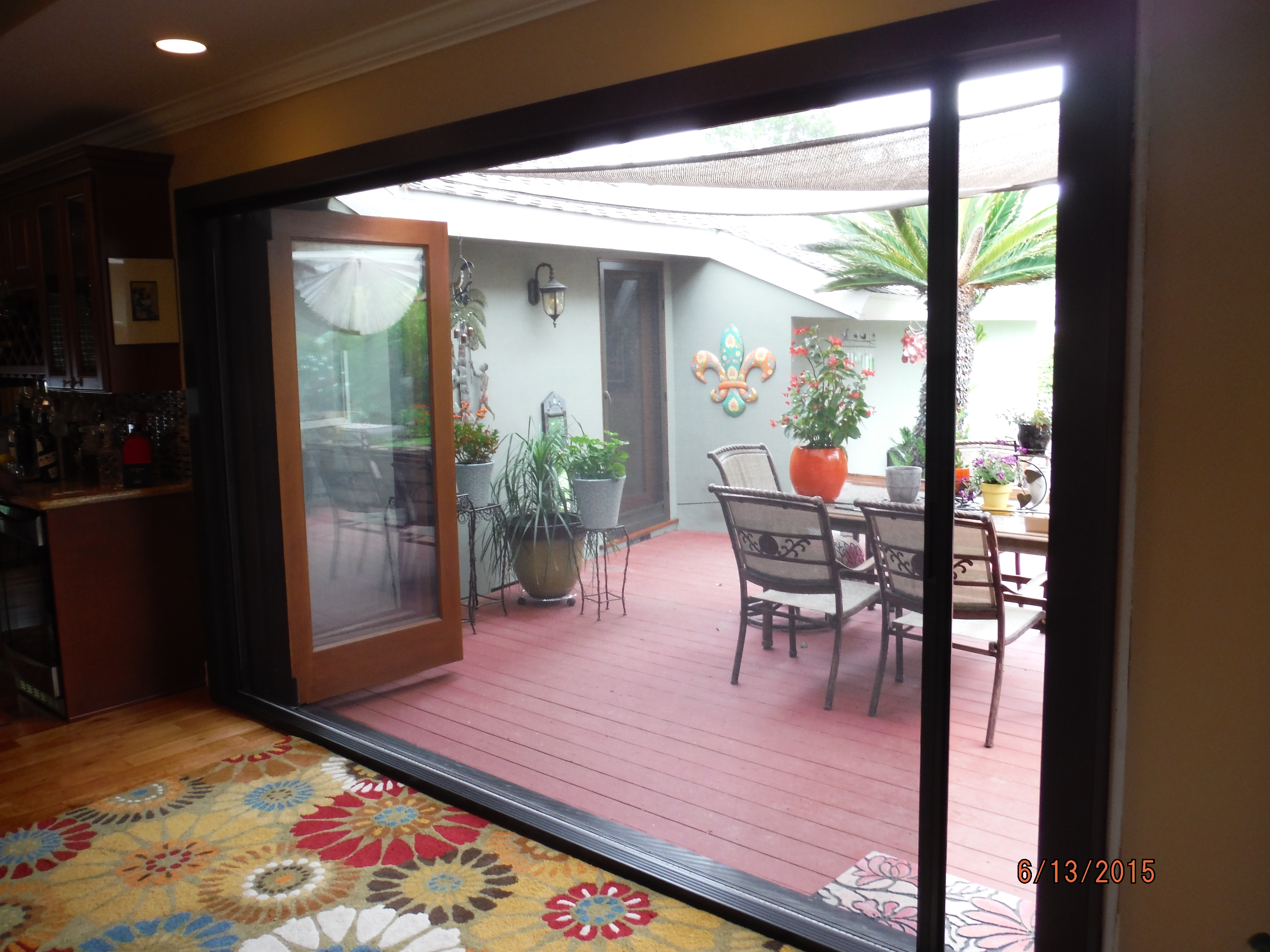 After view of Centor Arquitectural Screens for Bi-folding doors installed in West Hills & After view of Centor Arquitectural Screens for Bi-folding doors ...
