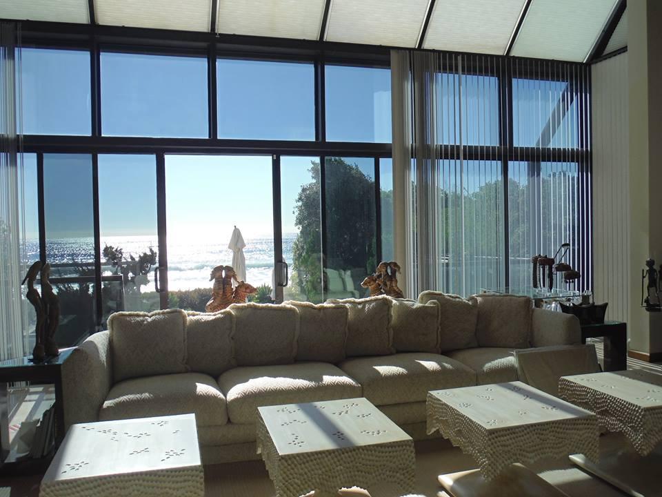 Window Screen Doors installation in Living Room of Malibu Home