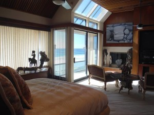 Window Screens installation in Bedroom of Malibu Home
