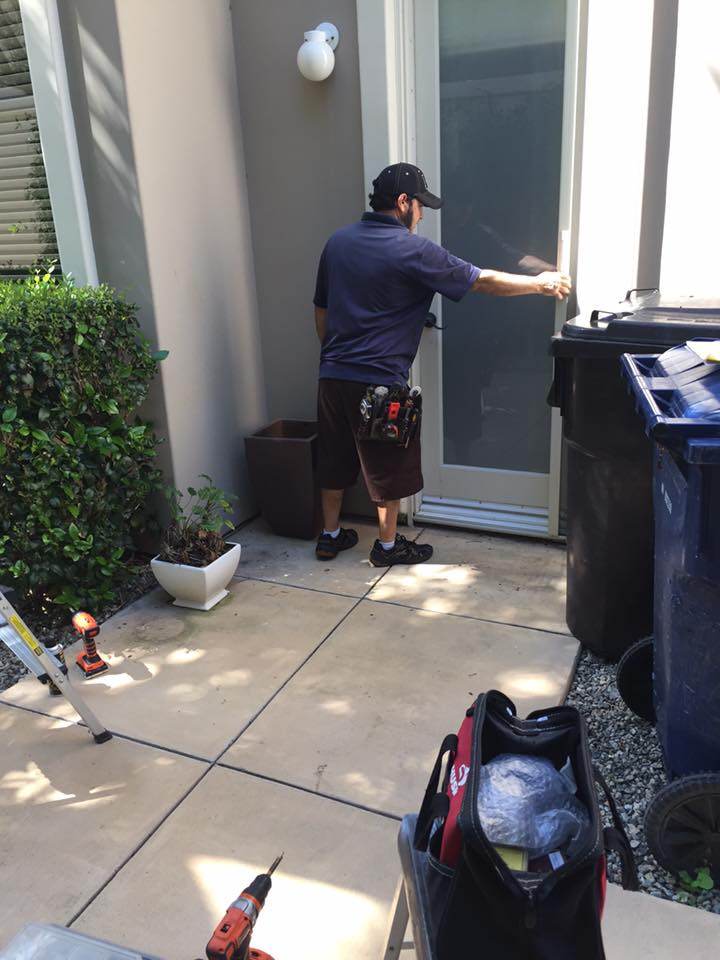 Mobile Screen Service Installing Sliding Screen Doors and Window