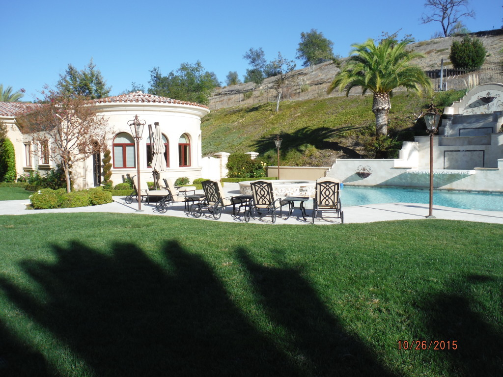 View of Home from Backyard of installation of Retractable Screen Doors in Agoura Hills