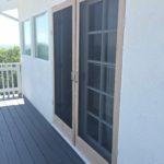 Completed Custom Made Wood Screen Doors for Malibu Home
