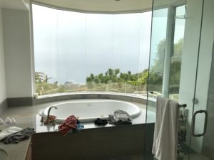 Bathroom White Window Screens
