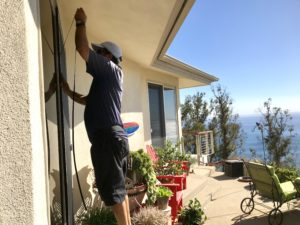 Malibu Beach Retractable Screen Doors installation