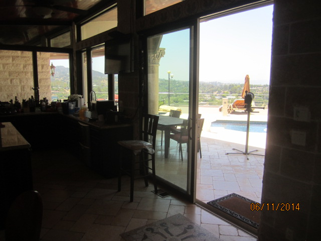 White Extruded Heavy Duty Patio Screen Doors Installed In