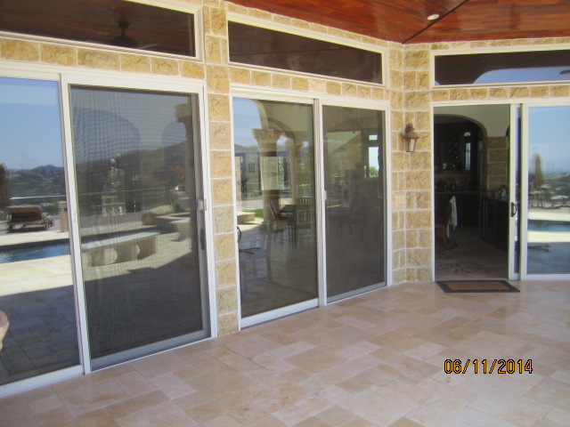 Extruded Heavy Duty Patio Screen Doors Installed In Studio